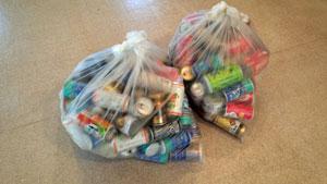 空き缶の準備